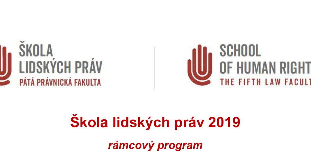 Rámcový program ŠLP 2019 je na světě