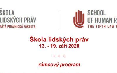Rámcový program ŠLP 2020 – seznamte se, prosím