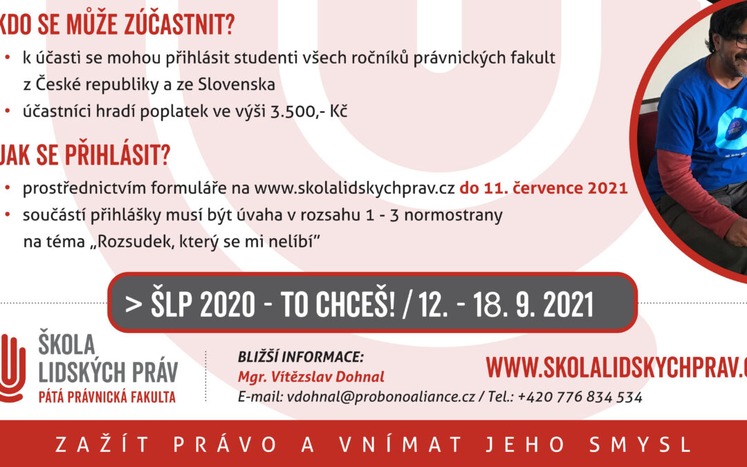 ŠLP 2021 – přihlašování zahájeno!
